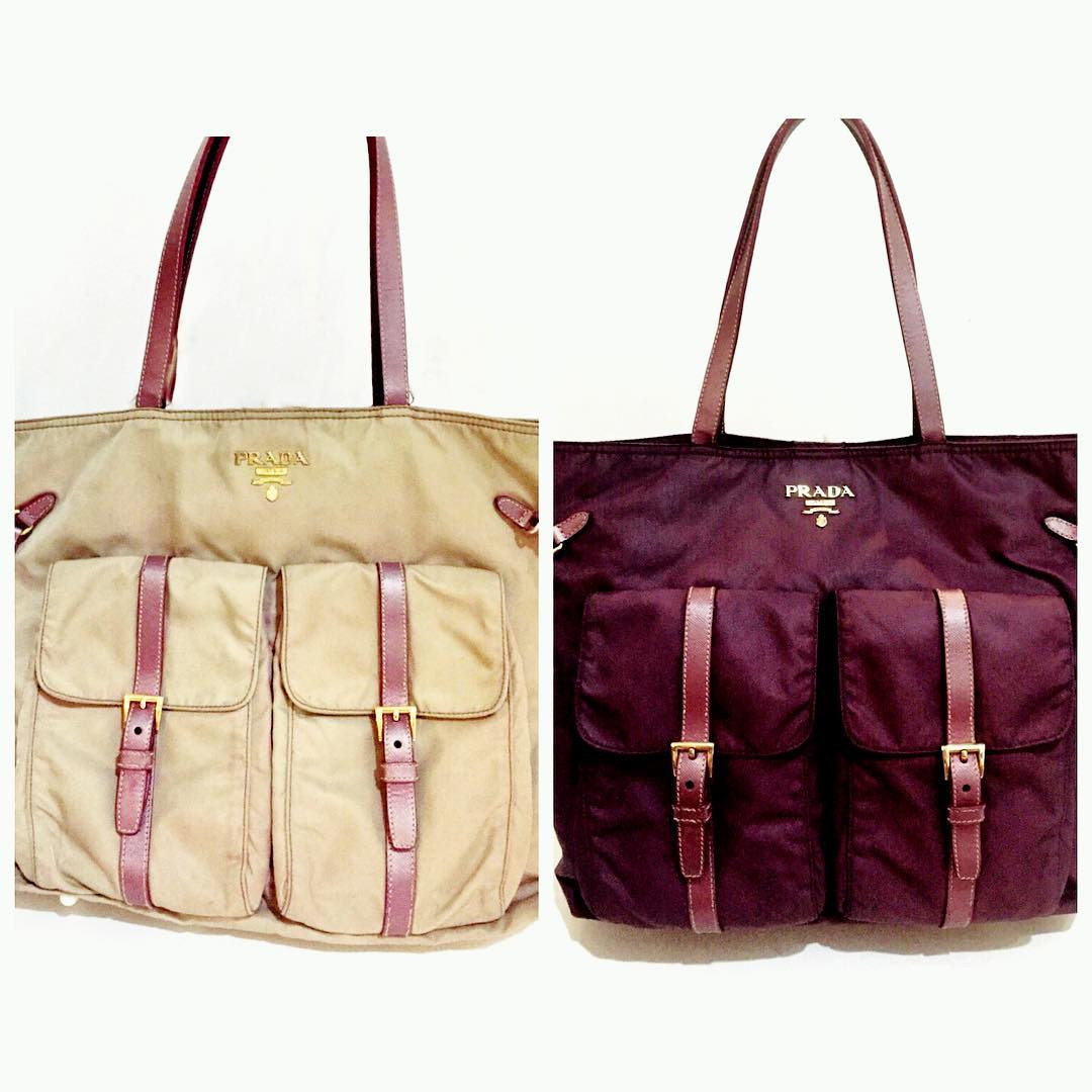 покраска кожаной сумки